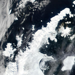 Antarctic Peninsula satellite photo