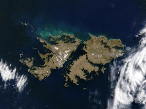 Falklands satellite photo