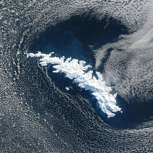 South Georgia Island satellite photo