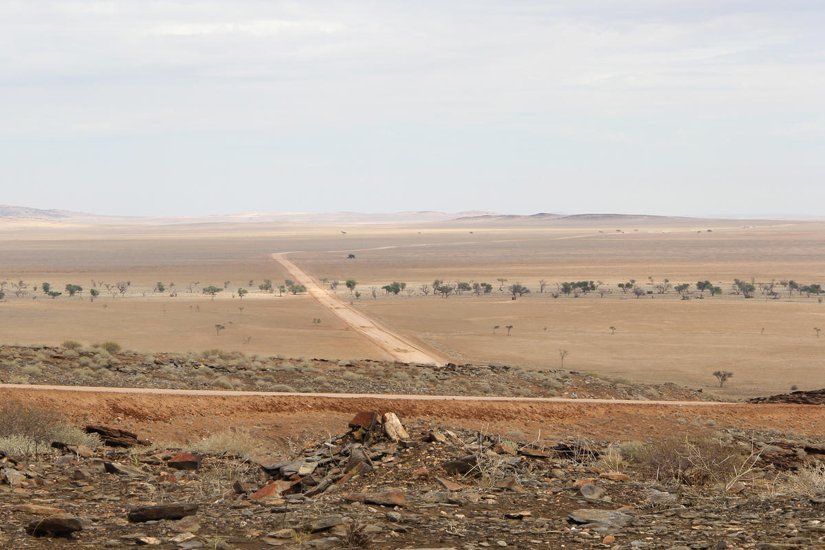 The road to Namib-Naukluft National Park