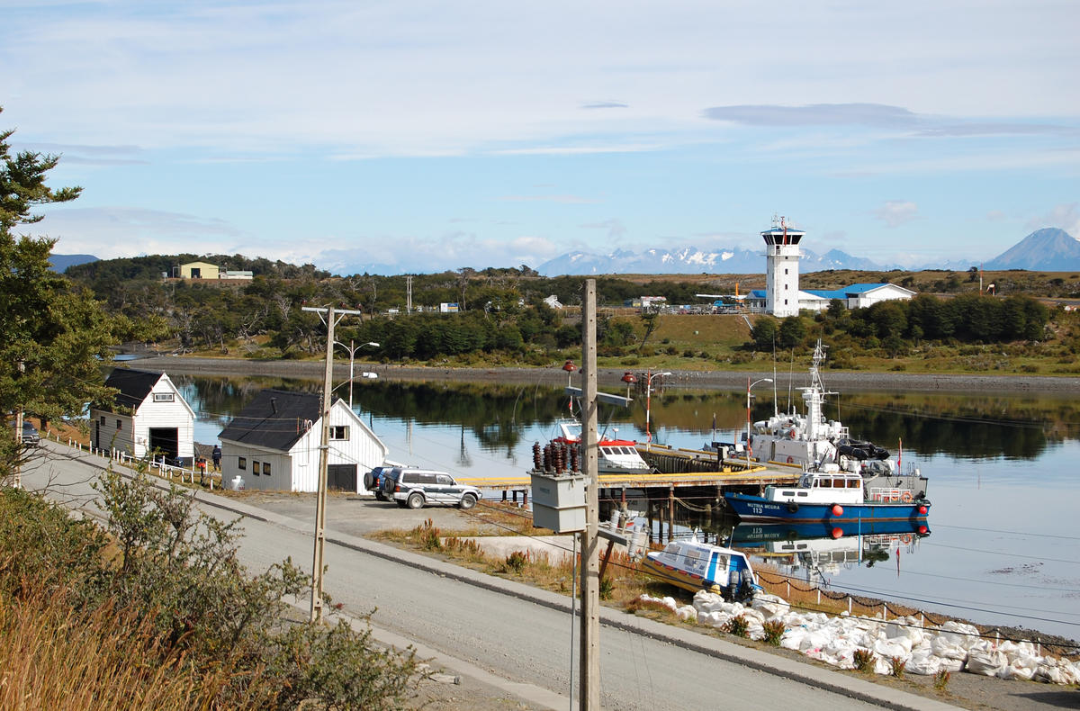 Puerto Williams dock and airport