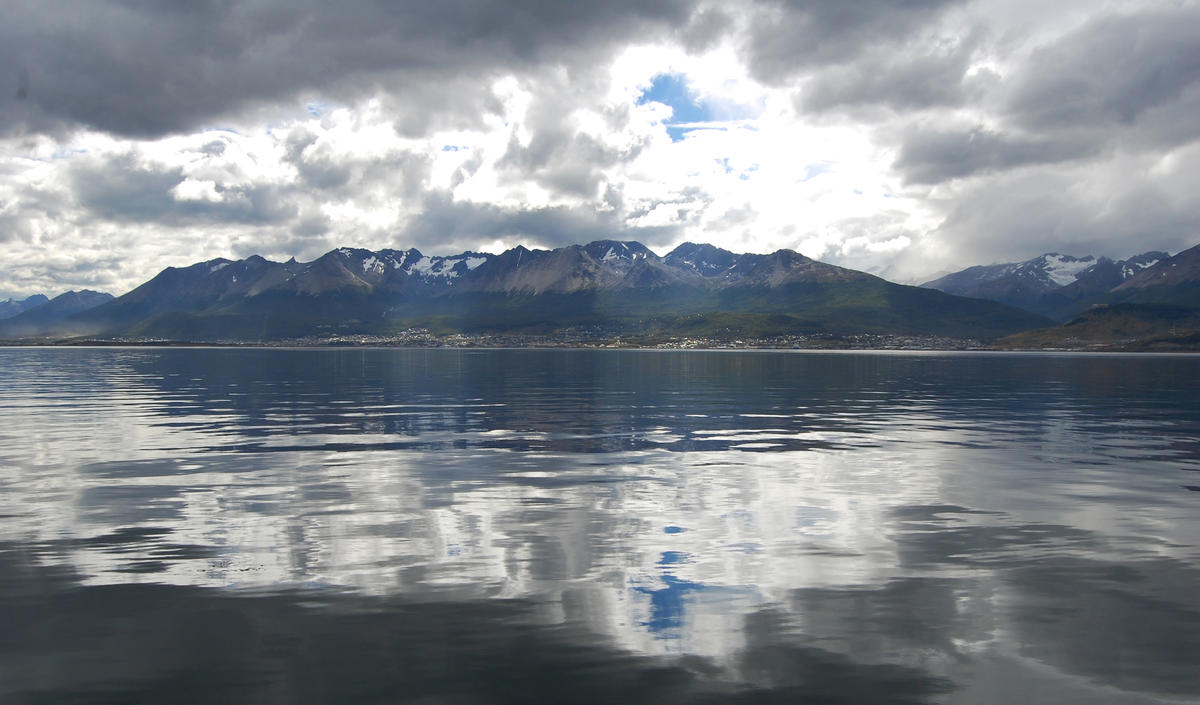 Ushuaia from the Beagle Channel