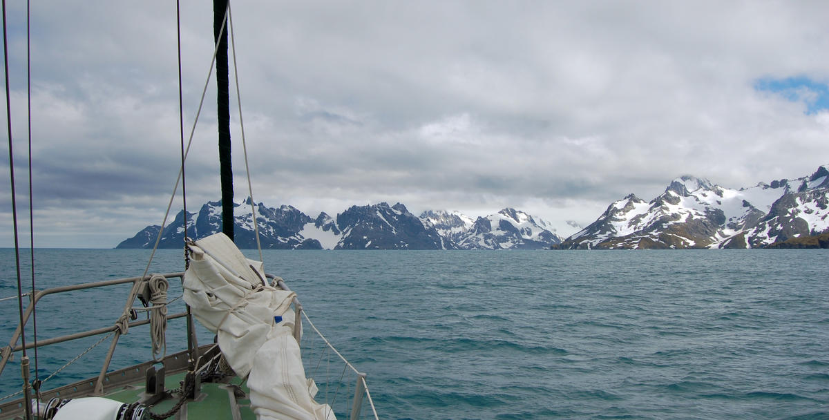Approaching Drygalski Fjord